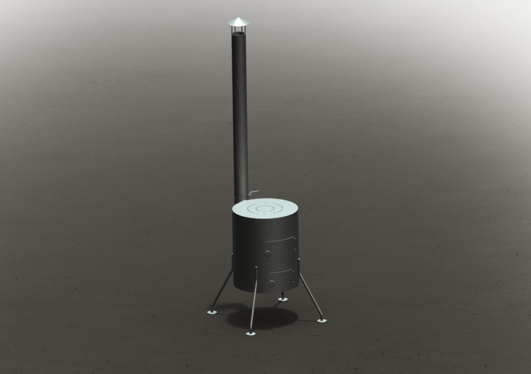 чертеж  печь буржуйка  3Д модель