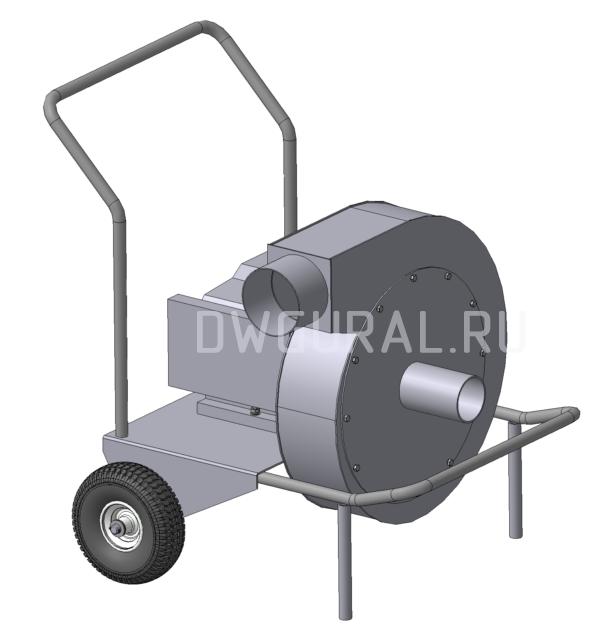 3D модель Промышленного вентилятора для сбора пыли