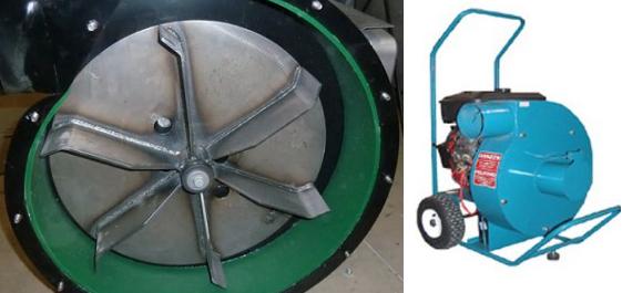 По данной фотографии пылевого вентилятора  была разработана 3D модель промышленного пылесоса