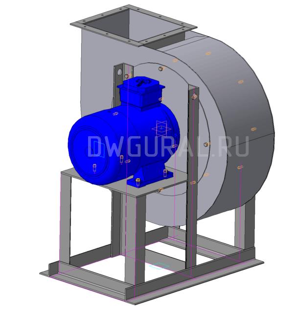 3D модель  вентилятора ВР140-40 № 4