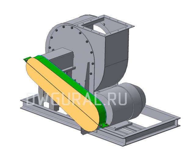 Пылевой вентилятор 120 45 №5 исполнение 5  3D модель