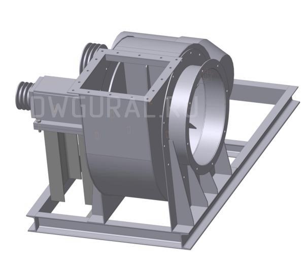 Пылевой вентилятор 120 45 №5 3D модель без кожуха