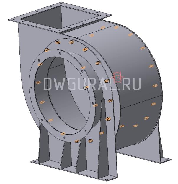 Улитка Пылевого вентилятора  №5 3D модель