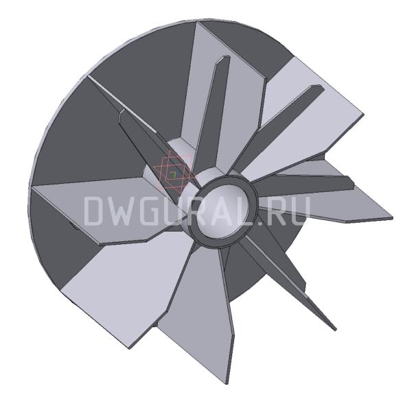 Крыльчатка Пылевого вентилятора №5   3D модель