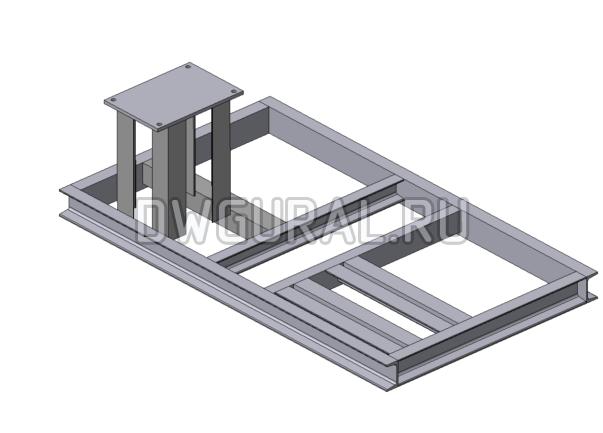 Рама Пылевого вентилятора №5 3D модель