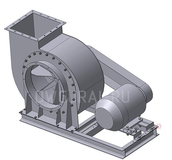 3D модель Пылевой вентилятор ВР120 45 №6,3 Исполнение 4