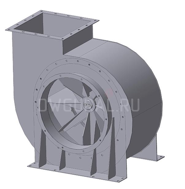 3D модель Улитка вентилятора ВР120 45 №6,3