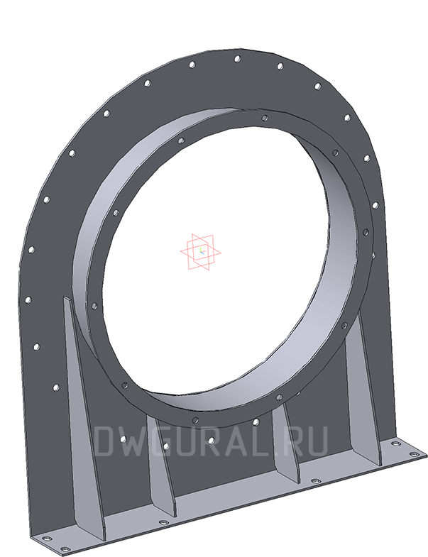 3D модель Опоры улитки ВР120 45 №6,3