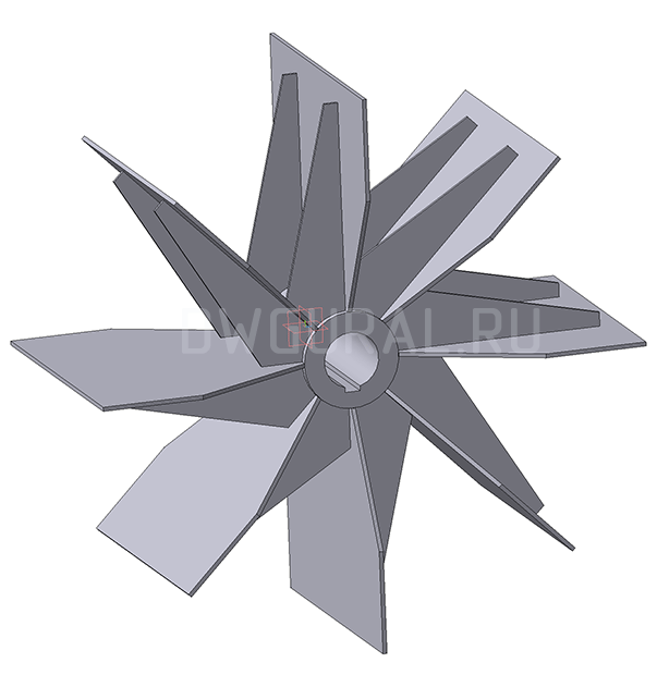Чертеж крыльчатки Пылевого вентилятора ВР120 45 №8