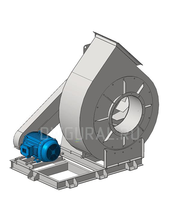 Сборочный чертеж Вентилятор №12,5 Исполнение 5 3д модель.  Вид с переди