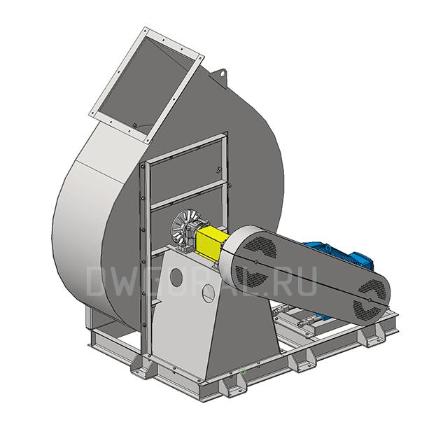 Сборочный чертеж  Вентилятор №12,5 Исполнение 5 3д модель.  Вид с зади