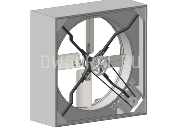 Сборочный чертеж  Вентилятор Осевой 800. Вид со стороны привода.