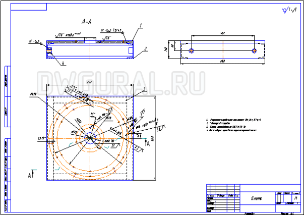 Сборочный чертеж Рама Кондуктора для сборки Роторов вентиляторов