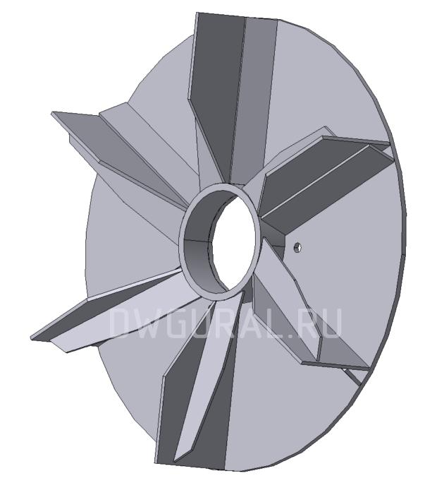 3D модель крыльчатки Вентилятора пылевого Ф490