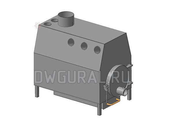 Печь конвекционная 3 D модель