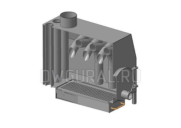 Печь конвекционная 3 D модель разрез