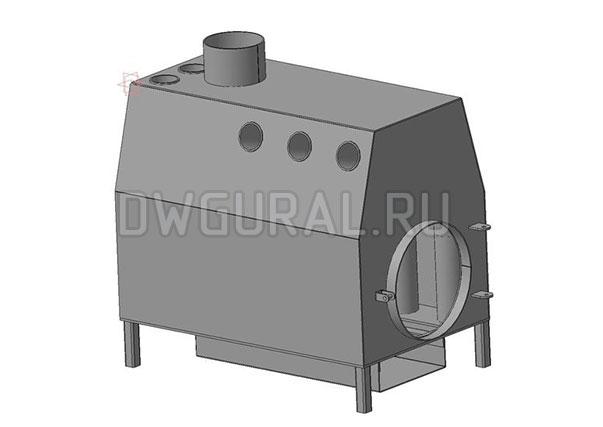 3 D модель Корпуса конвекционной печи