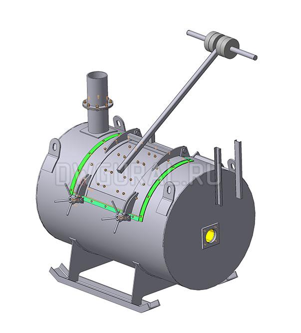 3D модель Печь крематор для утилизации биологических отходов 200 л