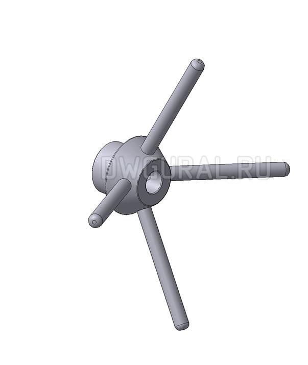 3D модель рукоятки  крышки