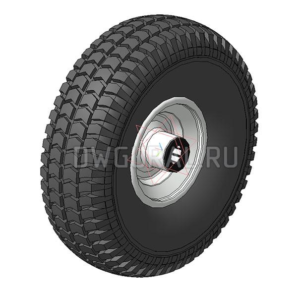 3D модель колеса 285х65
