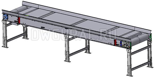 3D модель Ленточный конвейер 4 м