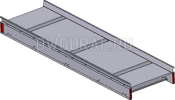 3D модель центральная рама 3D модель Ленточного конвейера