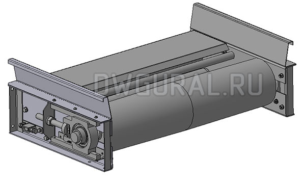 приводной ролик  3D модель Ленточного конвейера