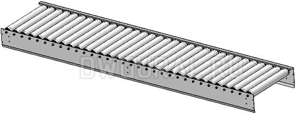 3D модель центральная рама Роликовый конвейер