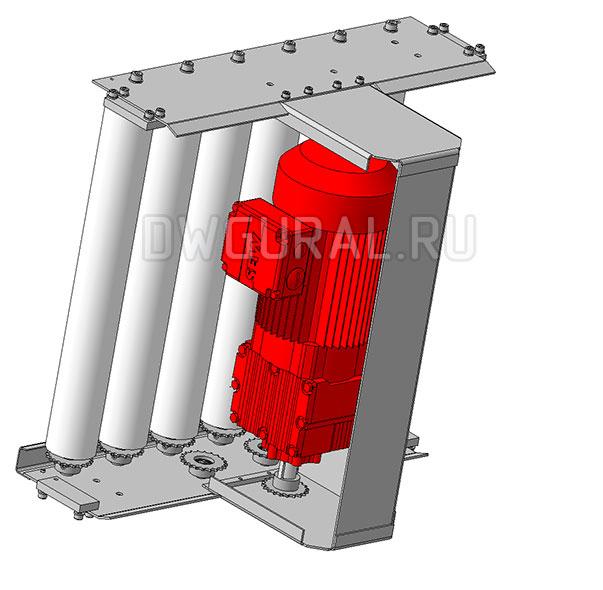 3D модель мотор редуктора Роликового конвейера