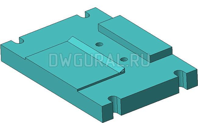 Штамп снятия фаски с листовой детали нижняя плита