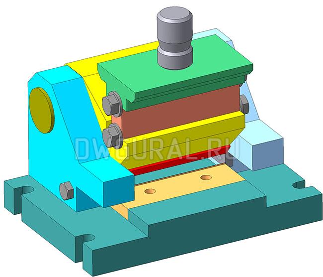 Штамп снятия фаски с листовой детали 3D модель Общий вид