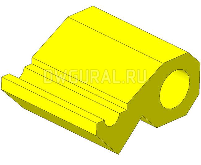 3D модель Шатуна для Штампа снятия фаски с листовой детали