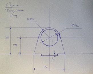 Dxf для чпу эскиз прислана на оцифровку кронштейн