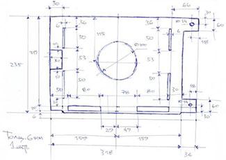 Dxf для ЧПУ  Чертеж плоской детали плита опорная