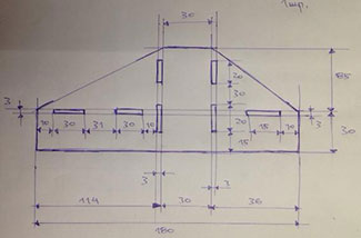 Dxf для ЧПУ  Чертеж плоской детали площадка опорная