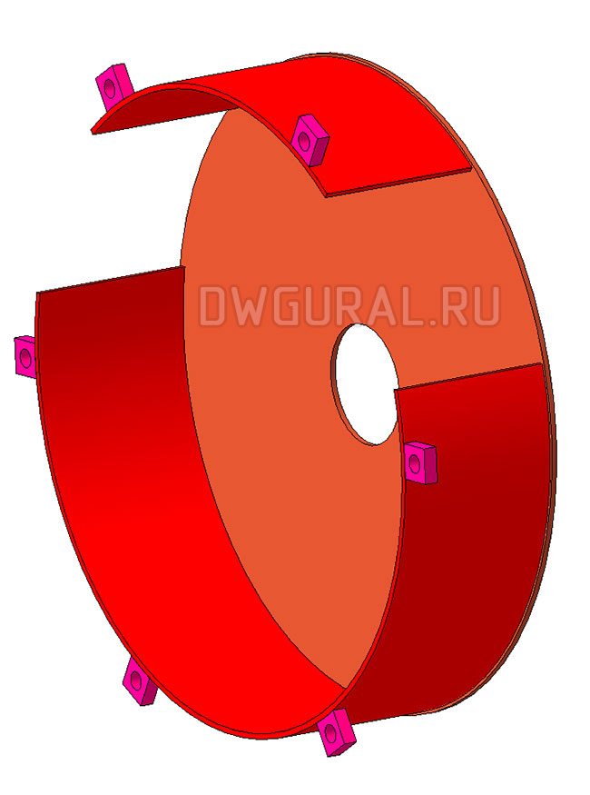 3д модель Кожух блока Крюковая-подвеска- грузоподъемность 5т
