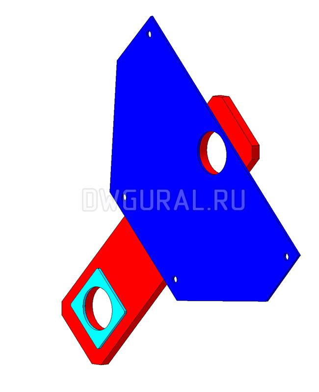 Щека крюковой подвески 20 т 3D модель