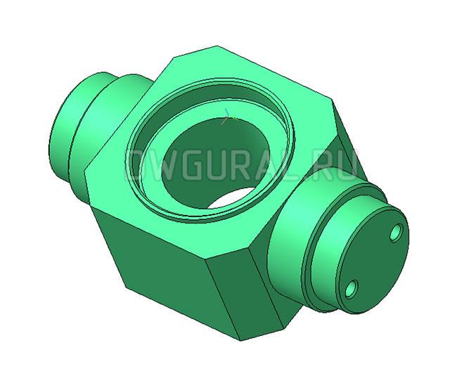 Траверса Крюковой подвески 20 т 3D модель.