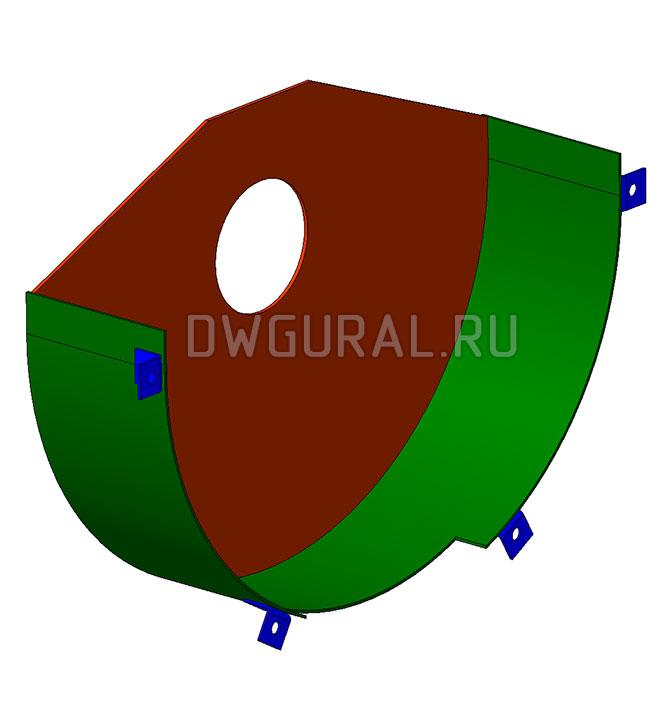 3д модель Кожух блока  Крюковой подвески грузоподъемностью Q=75