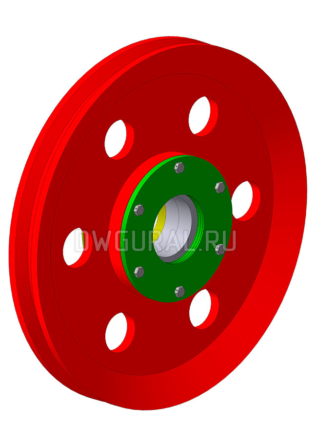 3д модель Блок полиспаста в сборе  Крюковая подвеска грузоподъемность Q=75т