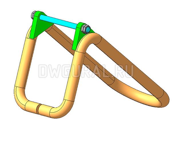 чертеж крана Предохранительный замок крюковой  подвески  3д модель.