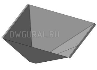 чертеж развертки 3д модель  Загрузочного бункера