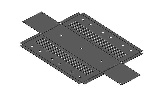 чертеж плоской детали Корпус фильтра, электоприбор  3д модель развертка