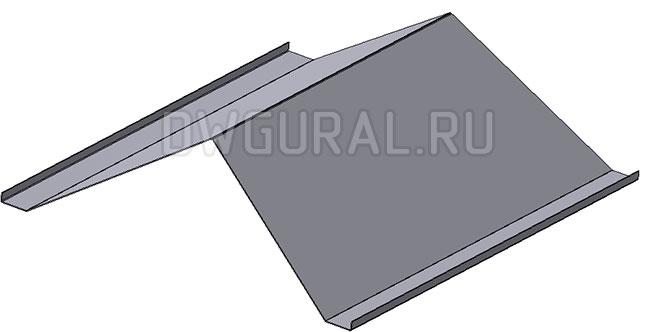Деталь крыша электрошкафа.  3д модель.