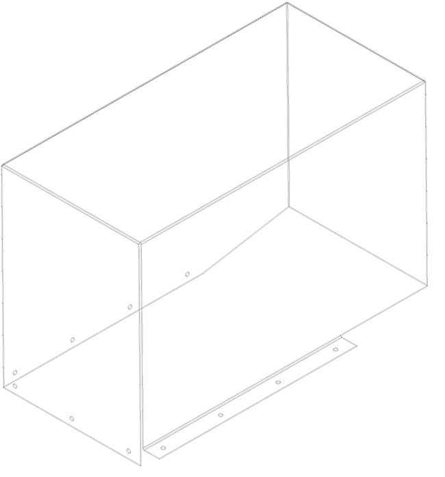 чертеж развертки Кожух привода Экструдера. 3д модель,  Каркас.