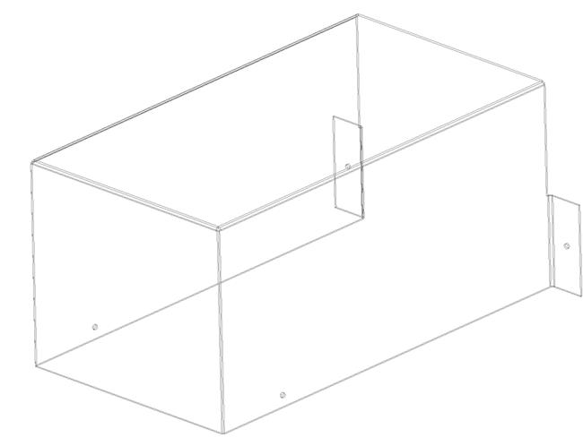 чертеж развертки Защитный кожух привода. 3д модель,  Каркас.