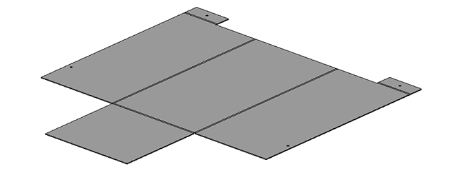 чертеж развертки Кожух привода Экструдера. 3д модель развертки.