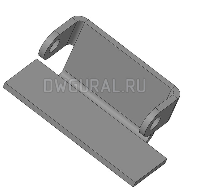 чертеж плоской детали Дверной навес, электрошкаф.  3д модель.