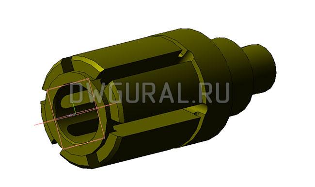 Корпус Хонинговальной Головки Ф 92 мм  3д модель.