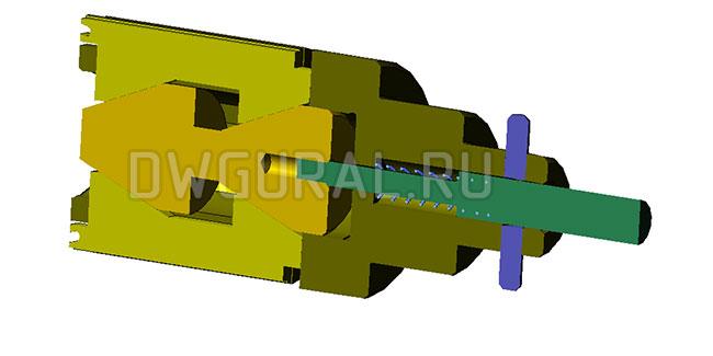 Хонинговальная Головка Ф 92 мм  3д модель разрез.